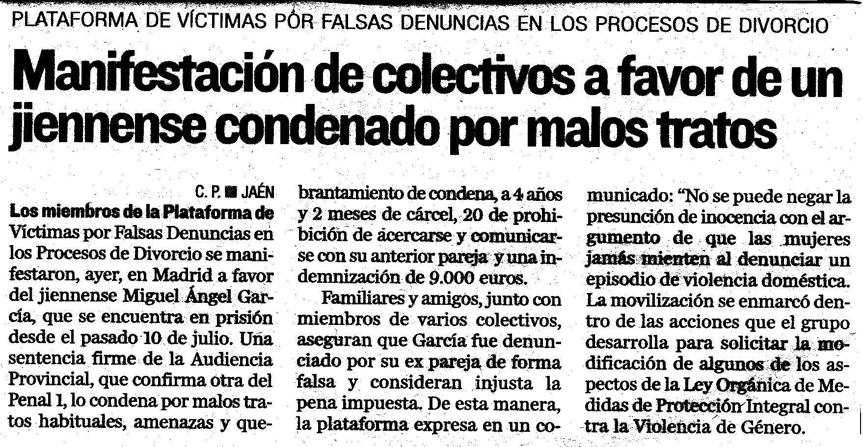 Artículo de Diario Jaén