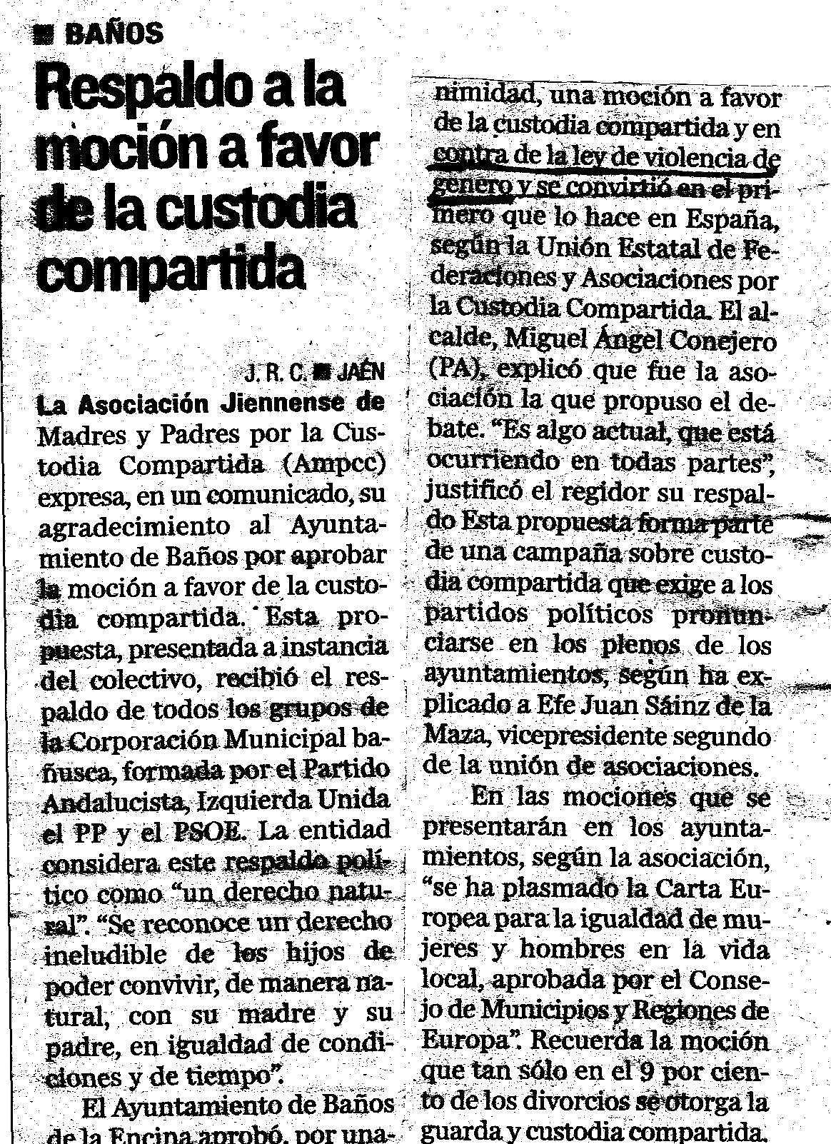 BAÑOS CONTRA LA LEY DE VIOLENCIA DE GENERO
