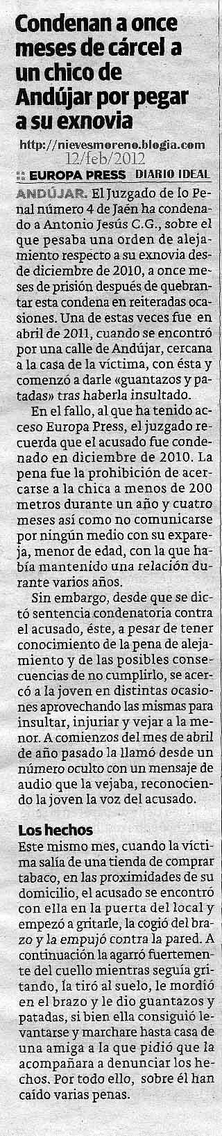nievesmoreno.blogia.com - Condenan a once meses de cárcel a un chico de Andújar